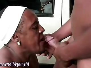 Black Big Cock BBW Fatty Granny Hardcore Mature Outdoor