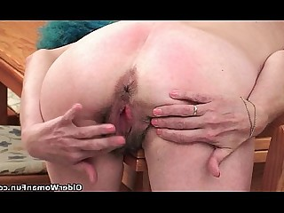 Hairy HD Mature Granny Little Small Tits Kitty Mammy