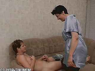 Old and Young Cougar Cumshot Facials Fuck Granny Wife Teen