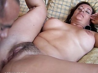 Facials Cougar Hot Brunette Boobs Bus Busty MILF
