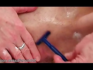 Granny Handjob Hot Kitty Mature Pussy Shaved