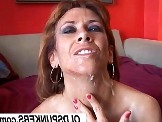 Cougar Cumshot Facials Fuck Hot Housewife Mammy Mature