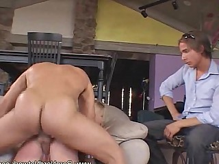 MILF Ladyboy Hot Erotic Cumshot Couple Blowjob Anal