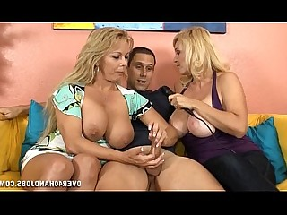 MILF Blonde Really Mature Jerking Handjob Emo Double Penetration
