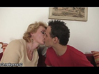 Blonde Granny Hot Mature Old and Young Playing Pleasure Pussy
