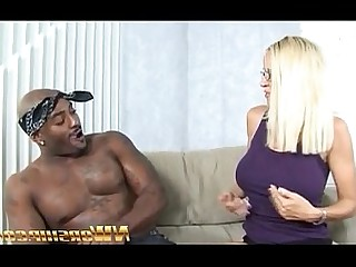 Black Blonde Big Cock Huge Cock Interracial MILF Funny