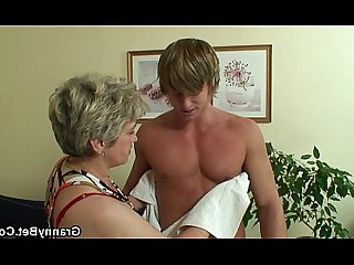 Granny Hot Big Cock Huge Cock Cumshot Mature Old and Young Pleasure