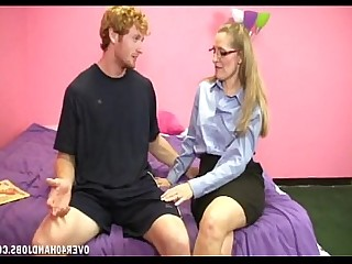 Blonde Big Cock Handjob Horny Huge Cock Jerking Mature MILF