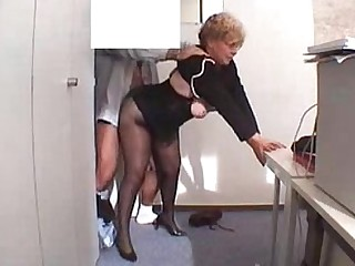 MILF Amateur Mature Stocking Hidden Cam Secretary