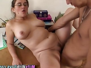 MILF Blowjob Ass Cumshot Mature Hot Hardcore Glasses