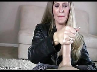 Blonde Handjob Jerking Mature MILF Party