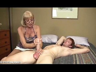 Big Cock Handjob MILF Cumshot Hot Huge Cock Mature Jerking