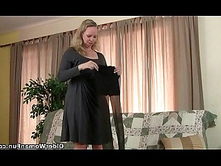 Cougar Granny Mammy Masturbation Mature Nylon Panties Stocking