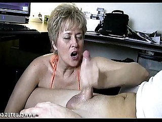 Car Granny Handjob Jerking Mature MILF Nasty Outdoor