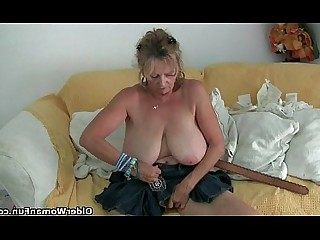Granny Mature Nylon Panties Mammy