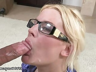 MILF Babe Blonde Blowjob Fetish Uniform Sucking Nude