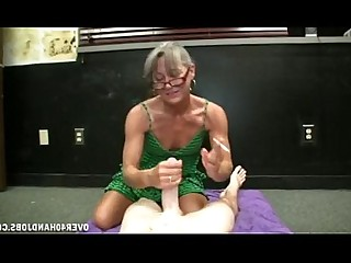 Granny Handjob Jerking Mature MILF Old and Young Smoking Teen