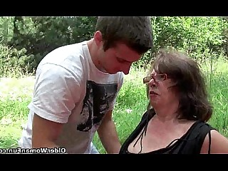 Cougar Granny Kitty Mammy Mature MILF Old and Young Outdoor
