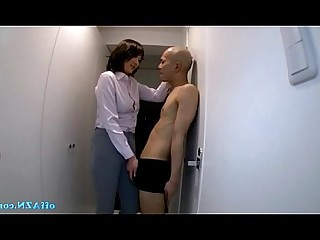 Slender Bus Uniform Stocking Skirt Office Nude Busty