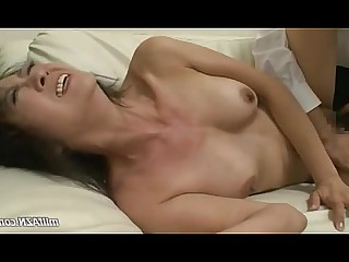 Couch Fuck Licking MILF Mouthful Nylon Panties Wife