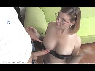 Nasty MILF Mature Handjob Jerking