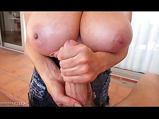 Huge Cock Jerking MILF Wife Big Tits Mature Boobs Bus