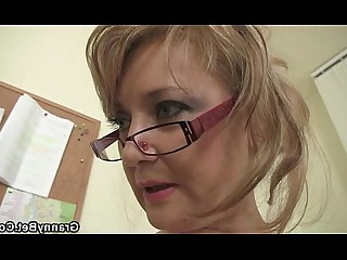Cumshot Granny Housewife Mammy Mature Office Old and Young Teen
