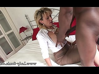 Blonde Big Tits MILF Mature Lingerie Interracial Stocking Inside