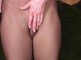 Slender Mature Nylon Panties