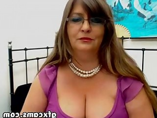 Tease Granny Mature BBW Amateur Webcam Striptease