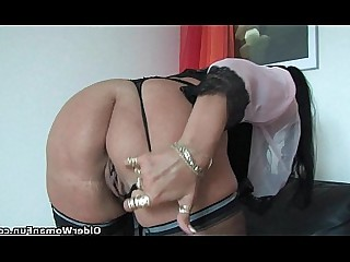 Lingerie Mammy Masturbation Mature Nylon Solo Stocking