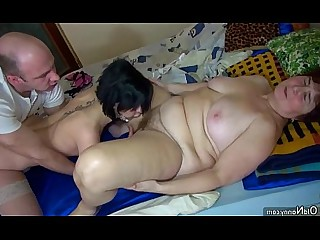 BBW Fatty Fuck Granny Hairy Licking Mature Nasty