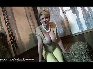 Blonde Mature MILF Tease