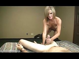 Blonde Handjob Hot Jerking Mature MILF