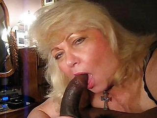 BBW Interracial Oral Mature MILF Deepthroat Blowjob Blonde