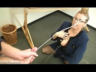 Teacher Jerking Hot Handjob MILF Mature Cumshot Ass