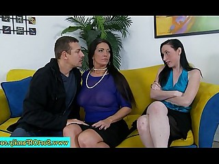 Mammy Really Daughter Cougar Blowjob Teen Big Cock Threesome