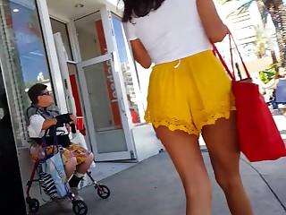 Amateur Brunette Gorgeous Hot MILF Panties Public