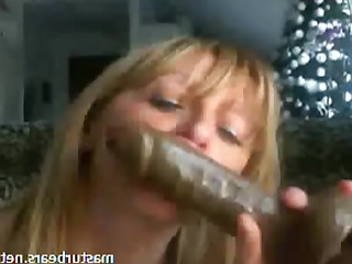 Amateur Blonde Cumshot Dildo Housewife Masturbation Mature MILF