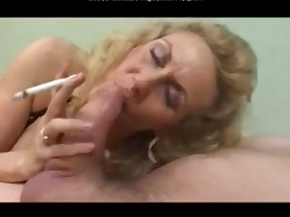 Big Cock Granny Mature Smoking Sucking