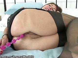 Anal Fantasy Granny HD Hidden Cam Masturbation Mature MILF