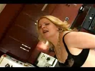 Amateur Ass Cumshot BBW Fatty Hairy Hot Kitchen