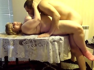 Amateur Blonde Couple Doggy Style BBW Fuck Horny Kitchen