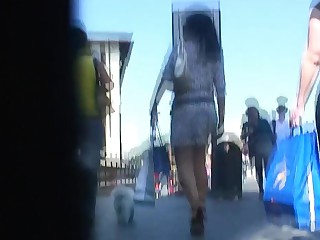 Amateur Babe Brunette Fetish Mammy MILF Skirt Upskirt