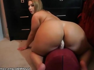 Ass Dildo BBW Fatty MILF Ride Solo Toys