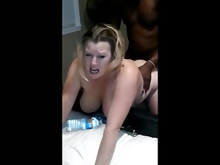 Amateur Big Cock Couple BBW Fatty Homemade Interracial Mammy