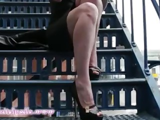 Black Brunette Dress Fetish High Heels Juicy Latex MILF