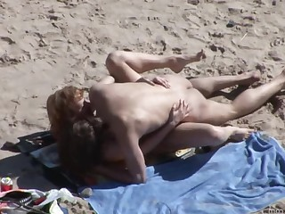 Amateur Beach Mature Outdoor Public