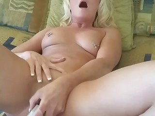 Amateur Blonde Boss Masturbation MILF Toys