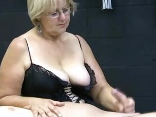 Big Tits Cumshot Handjob Hot Mature MILF